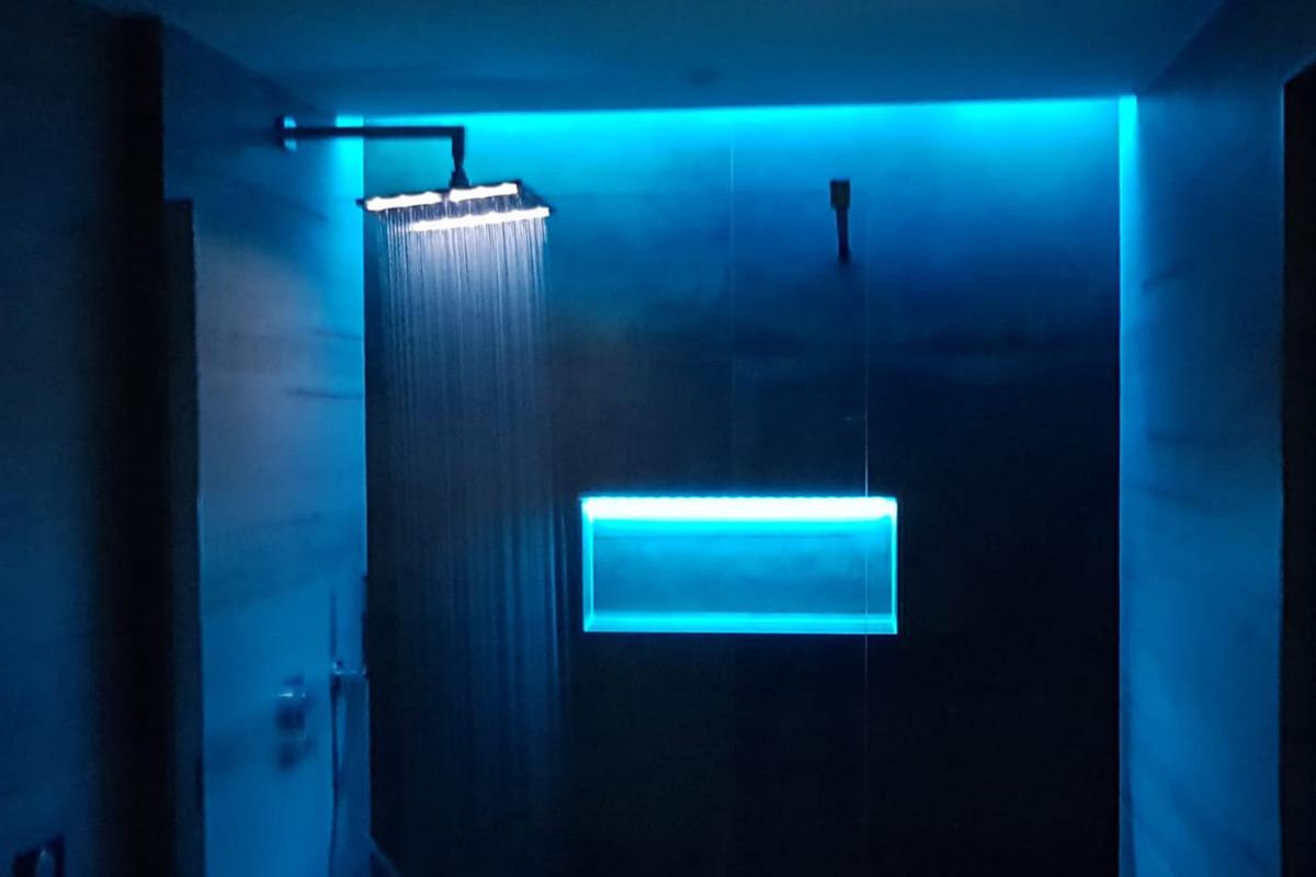 Douche italienne - LED Bleu