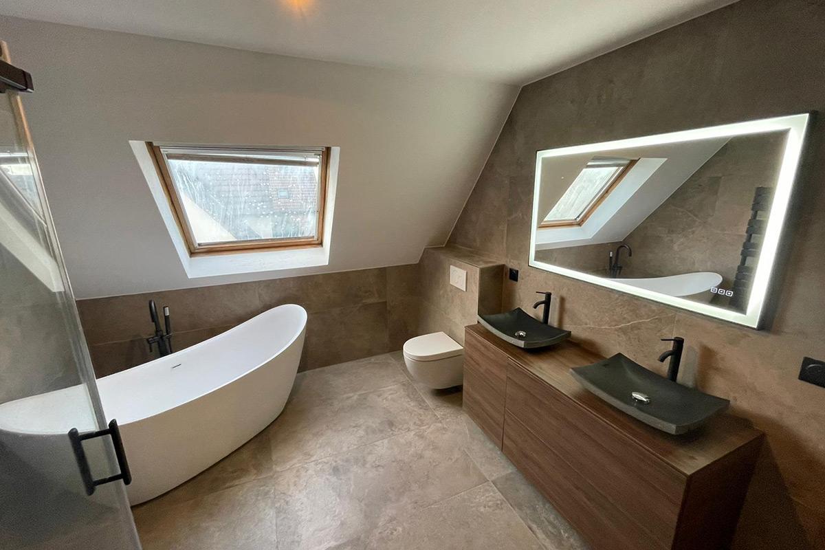 salle de bain & douche design - sous pente