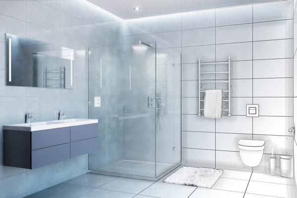 projet salle de bain et dessin